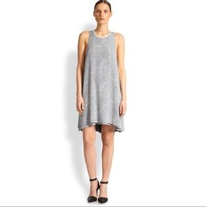 T By Alexander Wang Crepe Melange Trapeze Dress